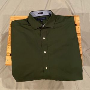 Tommy Hilfiger LS Button Front Shirt 16 1/2  32-33